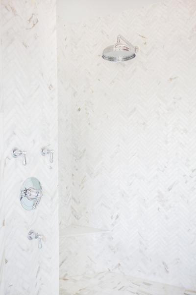 Halszálkaminta a zuhanyzóban - fürdő / WC ötlet