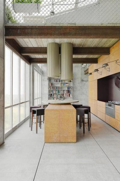 Rozsdás, de hangulatos - konyha / étkező ötlet, modern stílusban