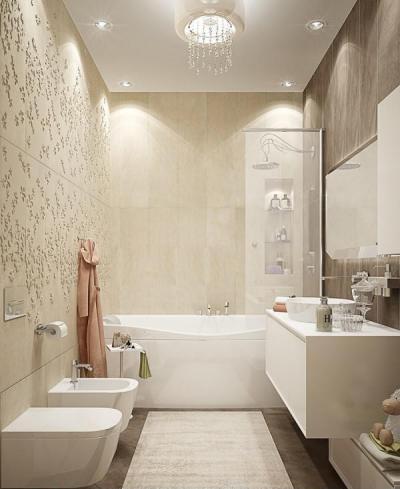 Nőies luxus - fürdő / WC ötlet, modern stílusban