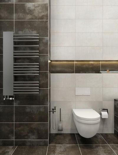 Mosott mintás burkolatok - fürdő / WC ötlet, modern stílusban