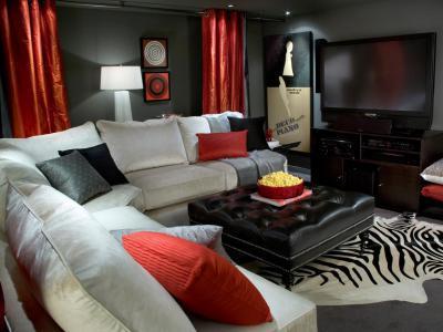 Merész nappali - nappali ötlet, modern stílusban