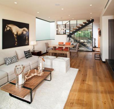 Kiegyensúlyozott nappali - nappali ötlet, modern stílusban