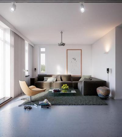 Kényelmes nappali sarok - nappali ötlet, modern stílusban