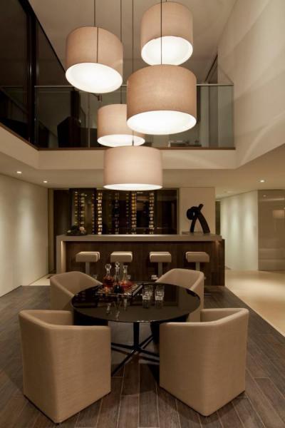 Otthoni elegáns bár - belső továbbiak ötlet, modern stílusban