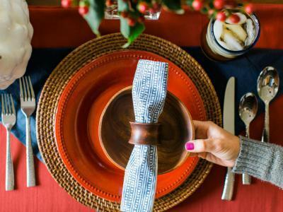 Ünnepi teríték az ősz színeivel II. - konyha / étkező ötlet, mediterrán stílusban