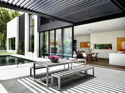 Árnyas terasz - erkély / terasz ötlet, modern stílusban