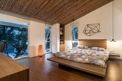 Hangulatos hálószoba - háló ötlet, modern stílusban