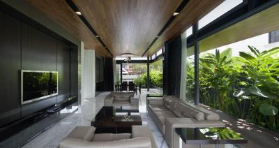 Nappali a teraszon - nappali ötlet, modern stílusban
