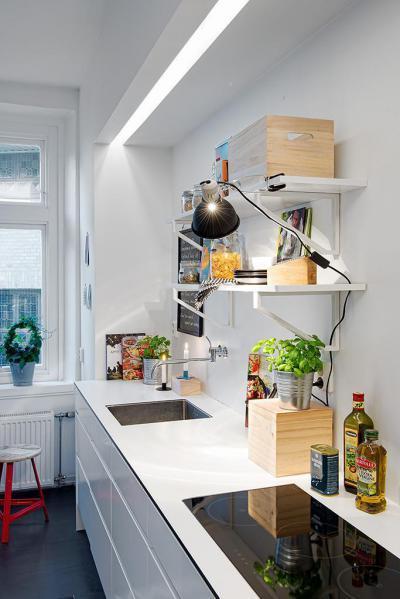 Skandináv megoldás - konyha / étkező ötlet, modern stílusban