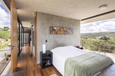 Teraszra nyíló hálószoba - háló ötlet, modern stílusban