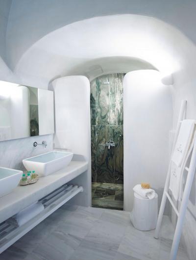 Mediterrán fürdőszoba - fürdő / WC ötlet, mediterrán stílusban