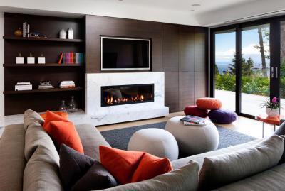 Modern nappali - nappali ötlet, modern stílusban