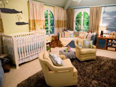 Bézs és barna babaszoba - gyerekszoba ötlet, modern stílusban