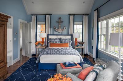 Hálószoba tengerparti házban - háló ötlet, modern stílusban