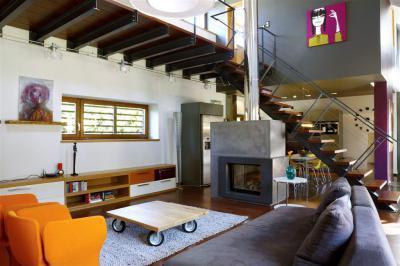Modern lakóház - nappali ötlet