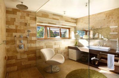 Modern lakóház - fürdő / WC ötlet, modern stílusban