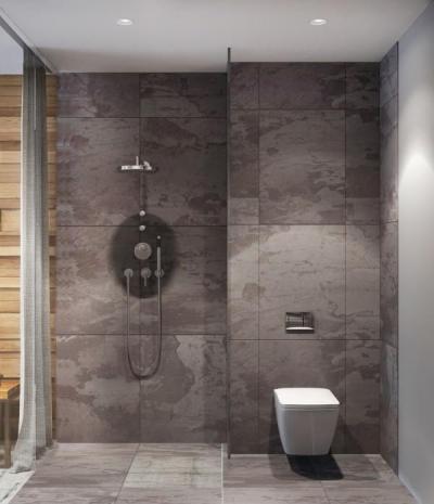 Szürke több árnyalata2 - fürdő / WC ötlet, modern stílusban