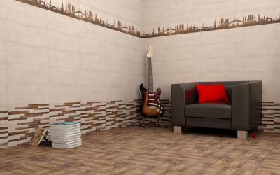 PETROL hidegburkolat - nappali ötlet, modern stílusban