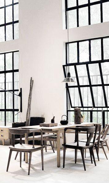 Óriási ablakok13 - nappali ötlet, modern stílusban