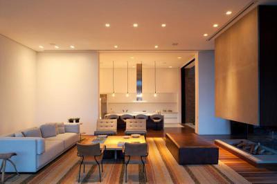 Nappali látvány kandallóval - nappali ötlet, modern stílusban