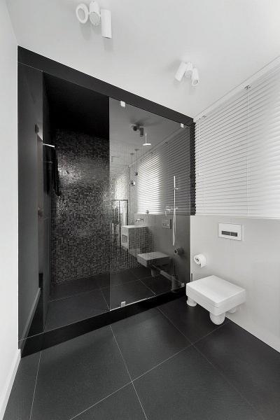 Férfiasan elegáns - fürdő / WC ötlet, modern stílusban