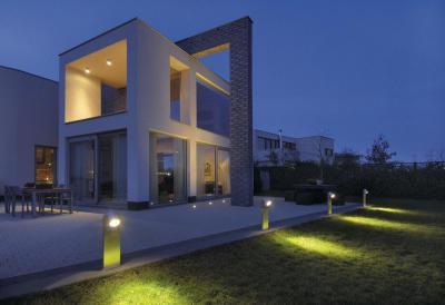 Luminis világítás - homlokzat ötlet, modern stílusban