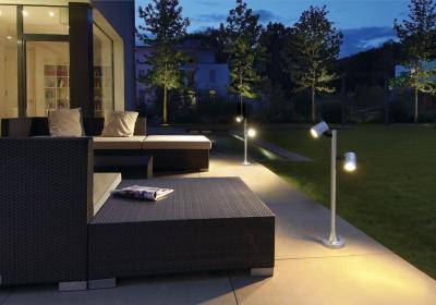 Kivilágított terasz - erkély / terasz ötlet, modern stílusban