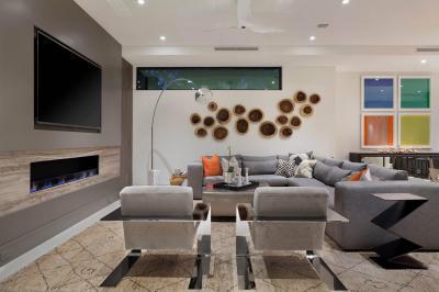Hangulatos nappali - nappali ötlet, modern stílusban