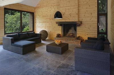 Luminis világítás - nappali ötlet, rusztikus stílusban