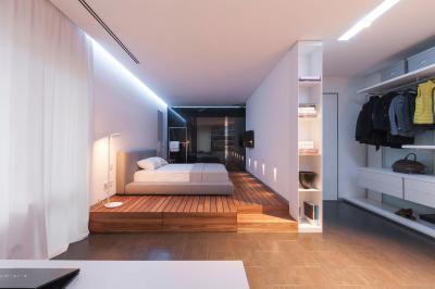 Hálószoba gardróbbal - háló ötlet, modern stílusban