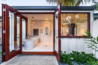Konténerház csodás fürdője - fürdő / WC ötlet, modern stílusban