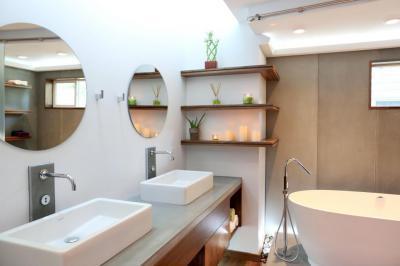 Letisztult ázsiai fürdő - fürdő / WC ötlet