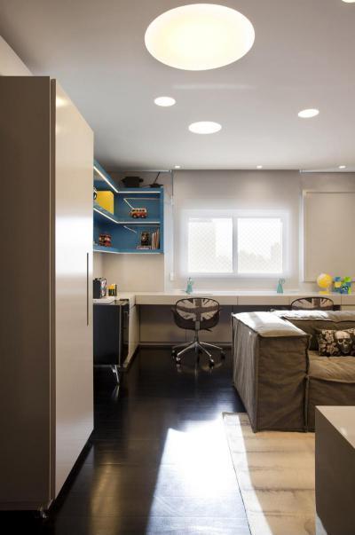 Iskolás fiúszoba  - gyerekszoba ötlet, modern stílusban