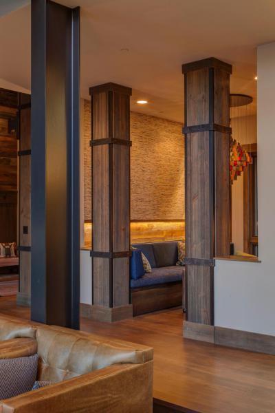 Faborítású oszlopok - konyha / étkező ötlet, modern stílusban