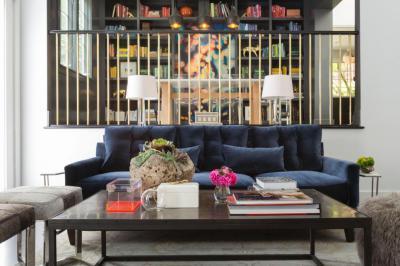 Hangsúlyos dohányzóasztal - nappali ötlet, modern stílusban