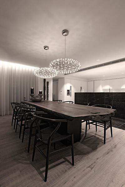 Elegáns és rusztikus elemek - konyha / étkező ötlet, modern stílusban