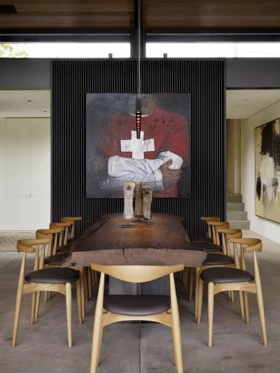 Rusztikus és modern elemek - konyha / étkező ötlet, modern stílusban