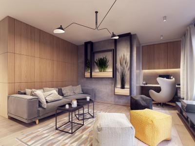 Dolgozósarok a nappaliban - nappali ötlet, modern stílusban