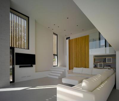 Egyszerű nappali - nappali ötlet, modern stílusban