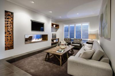 Esti fények - nappali ötlet, modern stílusban