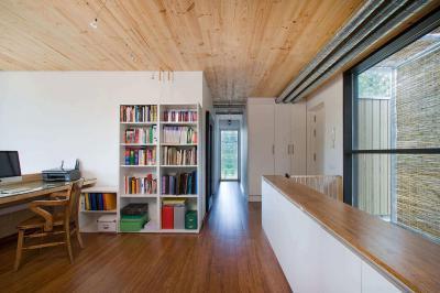 Dolgozószoba sok fával - dolgozószoba ötlet, modern stílusban