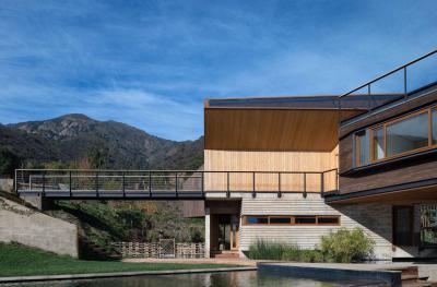 Modern faház - homlokzat ötlet, modern stílusban