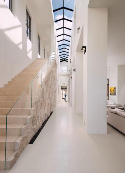 Kőlépcső - belső továbbiak ötlet, modern stílusban