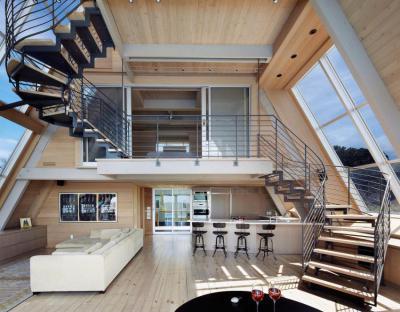 Tágas nyitott terek - nappali ötlet, modern stílusban
