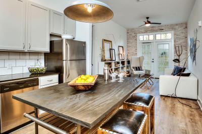 Nappali konyhával - konyha / étkező ötlet, modern stílusban