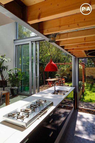 Konyhából a kertbe - konyha / étkező ötlet, modern stílusban