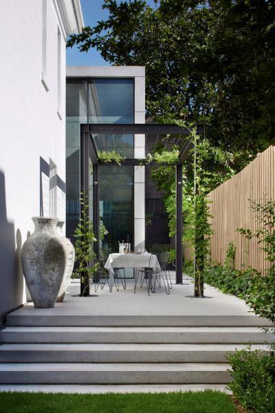 Modern mediterrán terasz - erkély / terasz ötlet, modern stílusban