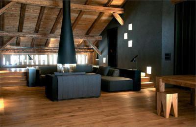 Nappali a tető alatt - nappali ötlet, rusztikus stílusban