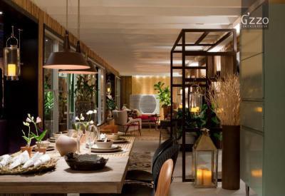 Hangulatos nappali - konyha / étkező ötlet, modern stílusban