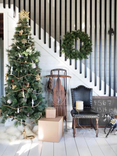 Vintage karácsony - belső továbbiak ötlet, rusztikus stílusban